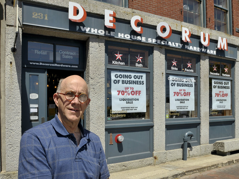 """We're seeing things turn around, but it's not enough,"" says Nick Harding, the owner of Decorum."