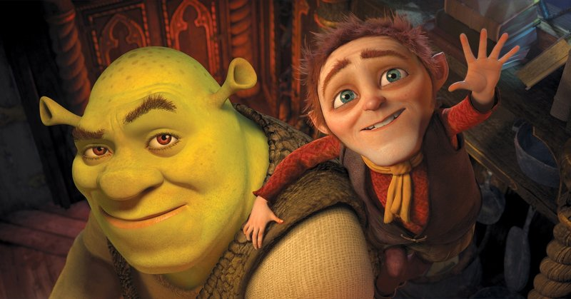"Shrek, in ""Shrek Forever After,"" is once again capably voiced by Mike Myers, but the Rumpelstiltskin character, right, voiced by Walt Dohrn, merits a ""meh"" at best."