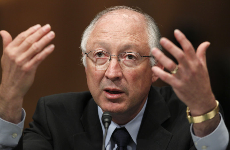 """Interior Secretary Ken Salazar testifies Tuesday on Capitol Hill in Washington. """"We need to clean up that house,"""" Salazar said of the Minerals Management Service."""