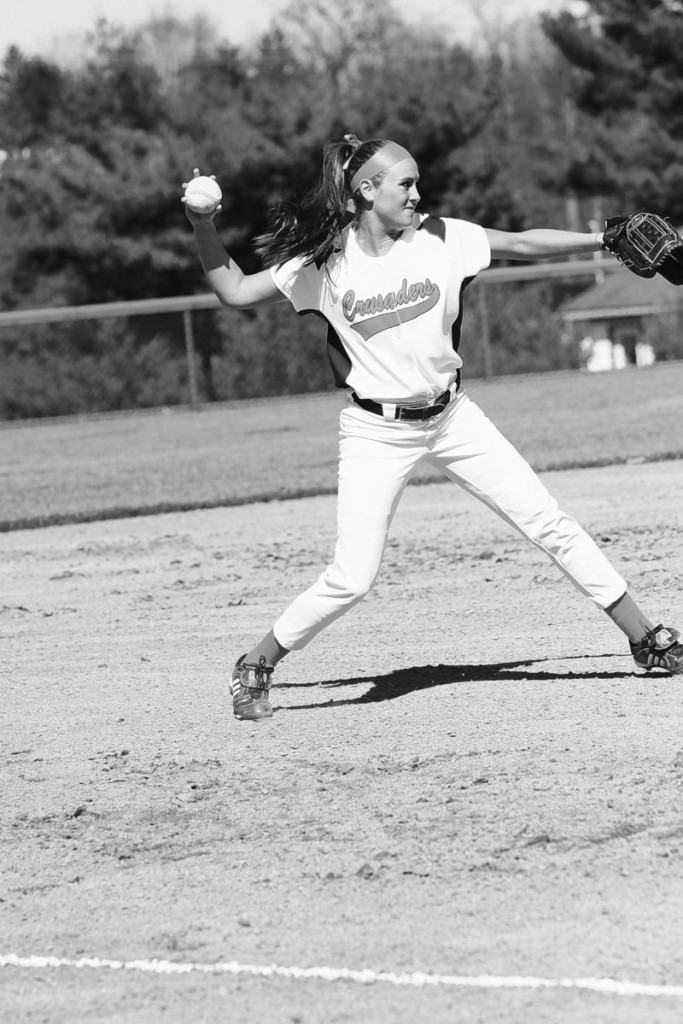 """Brennan Balfour, who says she was a """"bunter, a slap hitter"""" while at Cape Elizabeth High, had a record-setting season at Susquehanna University, with 11 home runs and 39 RBI."""