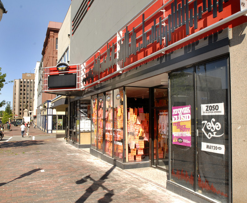 Port City Music Hall, a popular nightclub and concert venue near Monument Square, is shown Thursday before improvements to its facade.