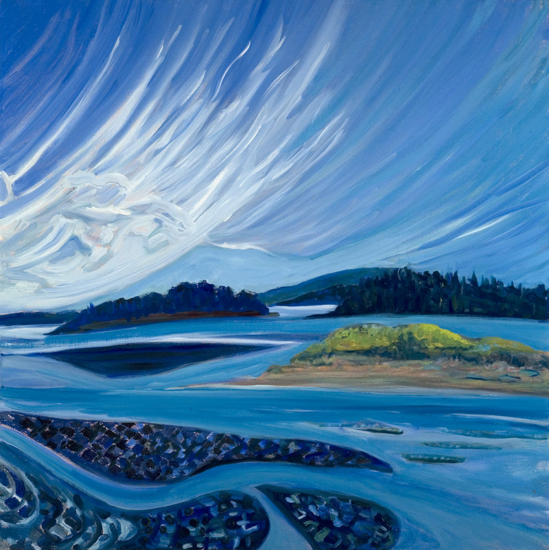 "Painter Brita Holmquist will be at a reception Thursday celebrating the opening of her new solo show, ""The Lonely Sea and the Sky,"" at Elizabeth Moss Galleries in Falmouth."