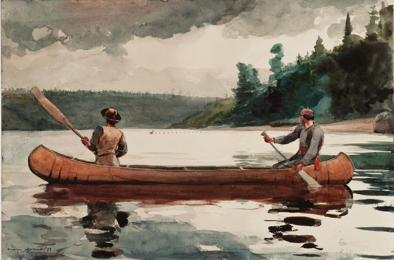 """Winslow Homer's """"Young Ducks"""" (1897, watercolor on paper) is among the Homer works bequeathed to the Portland Museum of Art by Charles Shipman Payson. It will be on display at the museum in """"Winslow Homer and the Poetics of Place,"""" which opens Saturday."""