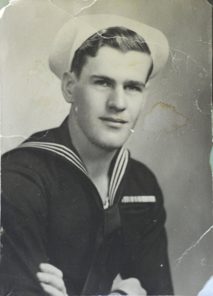 Walter Wheeler is shown as a seaman 1st class in the Navy in 1945.