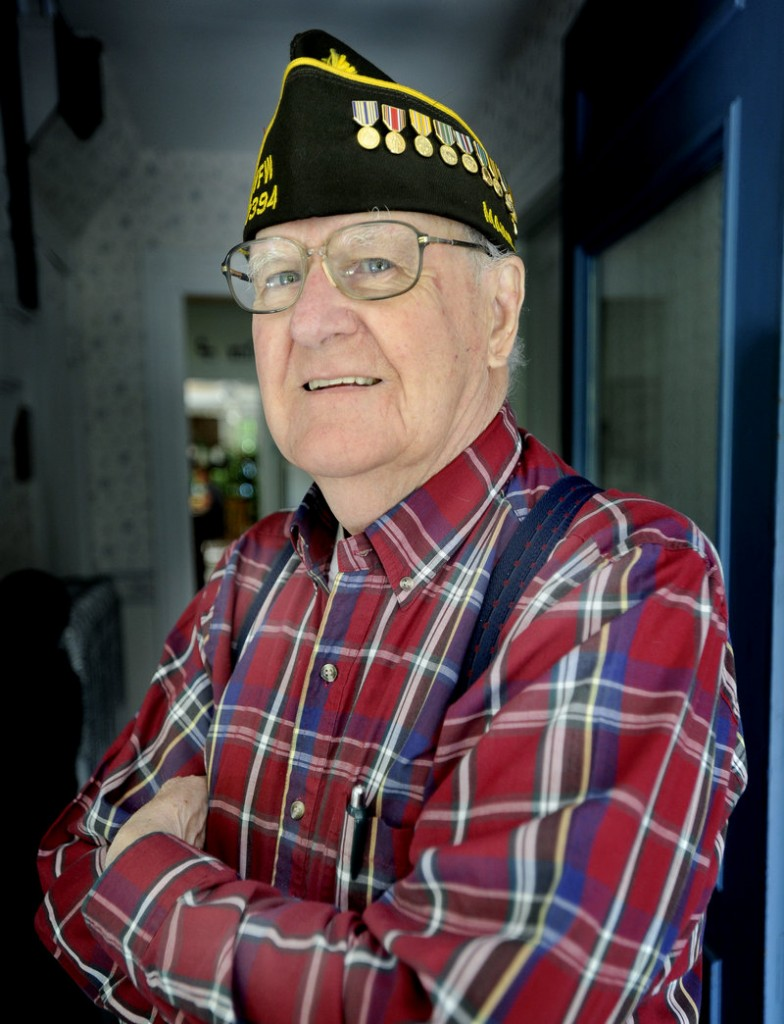 Walter Wheeler and his wife will be grand marshals of the parade in Kittery on Monday.