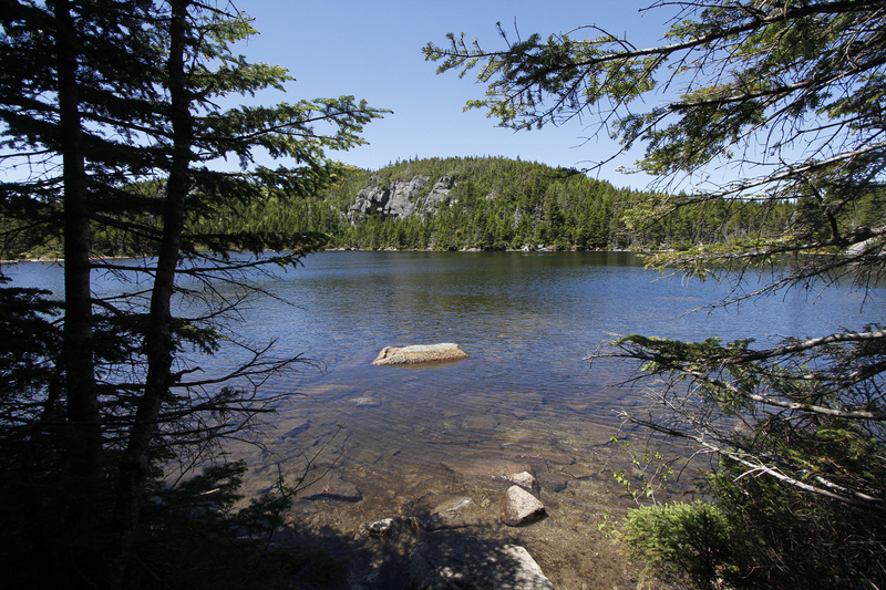 The Horns Pond on Bigelow Mountain.