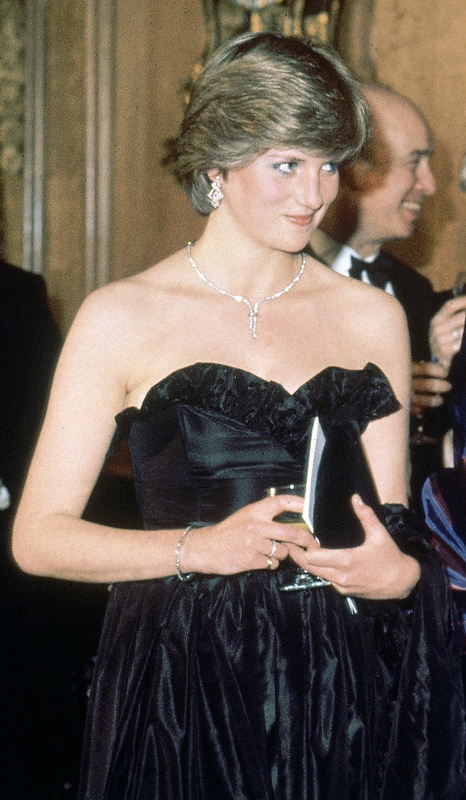 Diana Spencer, then-fiancee of Britain's Prince Charles attends her first official engagement in 1981.