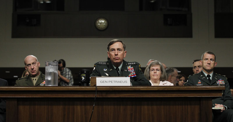 Gen. David Petraeus testifies on Capitol Hill today before the Senate Armed Services Committee hearing to be confirmed as President Obama's choice to take control of forces in Afghanistan.