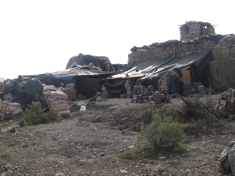 Bravo Company's ramshackle Observation Post 13 overlooks the border between Afghanistan and Pakistan.