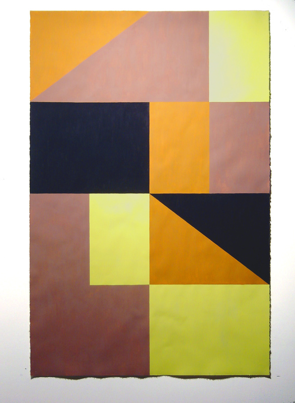 "Tisch Abelow's ""Untitled,"" gouache on paper, 68 by 44.5 inches, 2010"