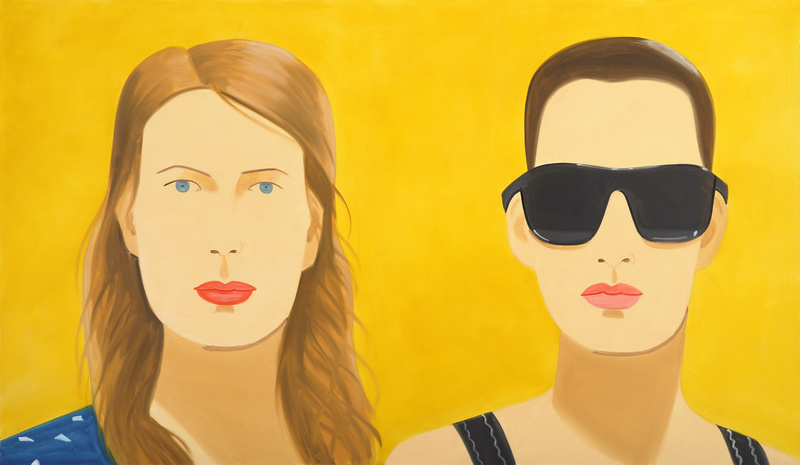 """""""Sharon and Vivien,"""" 2009, oil on linen, 84 by 144 inches. Painting Artist-Art"""