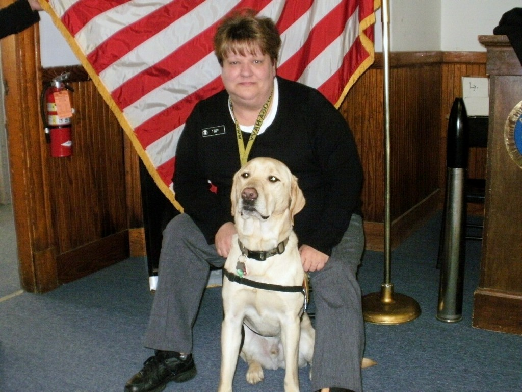 Robin Turek is pictured with Colonel while she was volunteering with the U.S. Naval Sea Cadets.