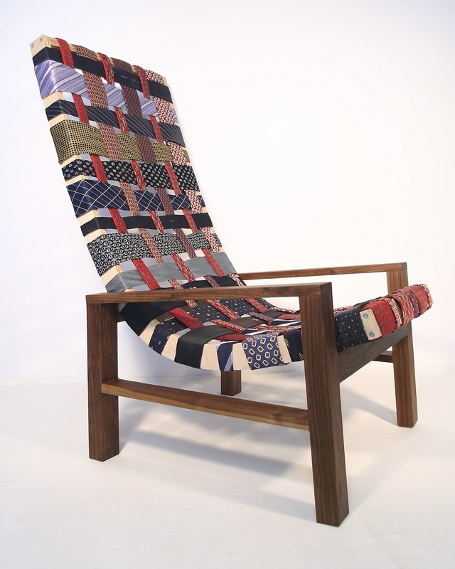 Necktie chair designed by Peter R. Russo of San Francisco