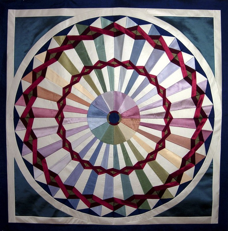 """Carnival"" quilt designed by Stacey Sharman of Berkeley, Calif."