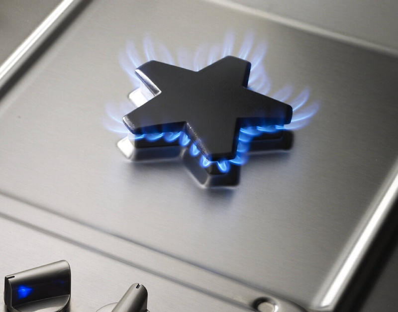 The look of Thermador's Star Burner gas range and its other stainless steel appliances is influenced by what's hot in fashion accessories.