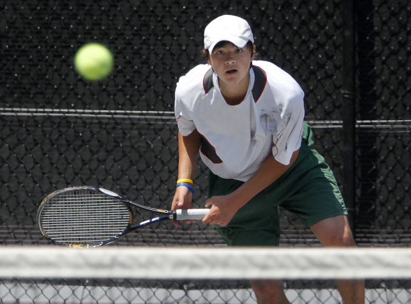 Brandon Thompson, the No. 1 seed in the boys' tournament, affirmed that status with a 6-3, 6-2 triumph in the final match against his Waynflete teammate, Patrick Ordway.