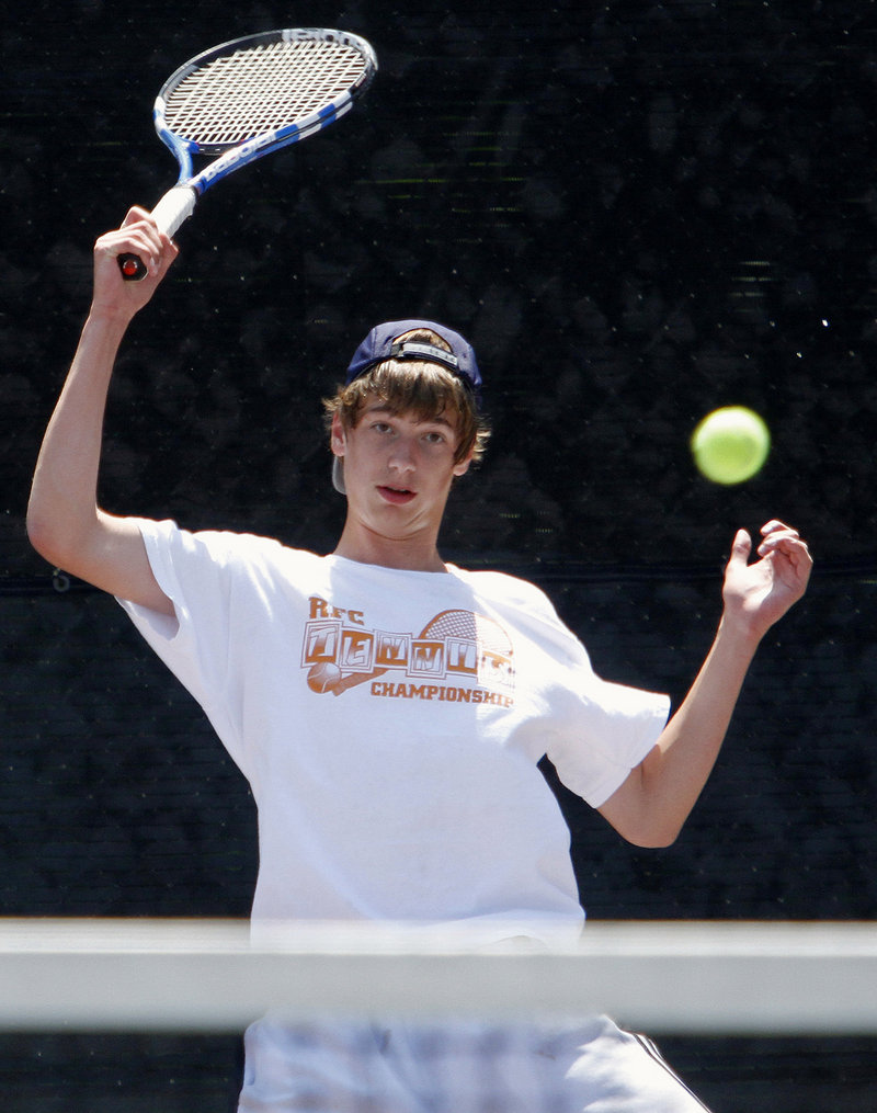 Patrick Ordway faced two Waynflete teammates Monday, first beating Devin Van Dyke 6-1, 7-5 in the semifinals before losing to Brandon Thompson in the championship match.