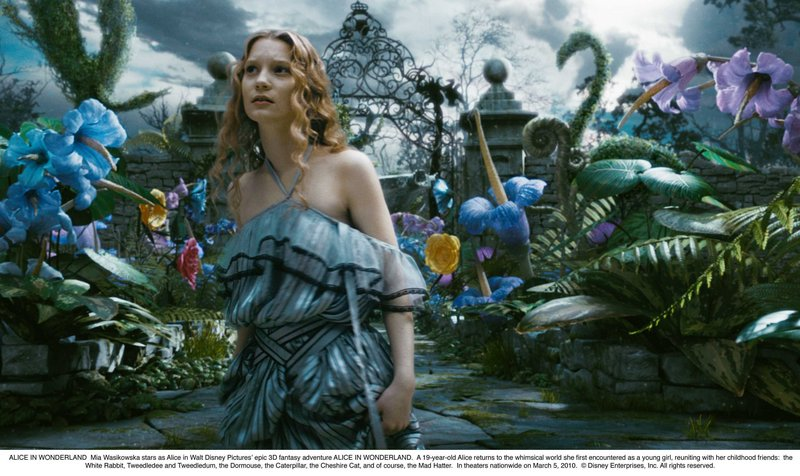 """Mia Wasikowska stars in the title role in """"Alice in Wonderland,"""" director Tim Burton's revisitation of the classic Lewis Carroll tale."""