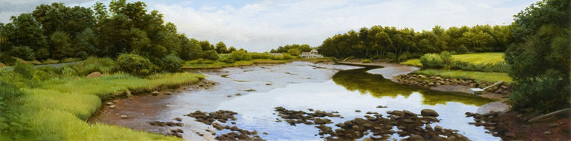 """James Mullen's """"York River,"""" a 2006 oil on canvas, will be auctioned at a fundraiser on June 19 to benefit the Museum of Art at the University of New Hampshire."""