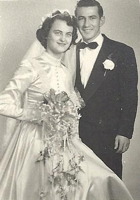 """Gilberte """"Gil"""" Farrell and her future husband, Paul, met at a dance, were married for 57 years and had four daughters."""