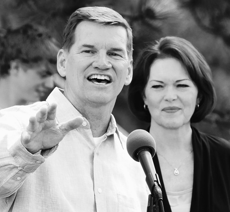 """""""I've got to overcome my personal shame and be willing to help somebody that knocks on our door,"""" says Ted Haggard, speaking Wednesday in Colorado with wife Gayle by his side."""