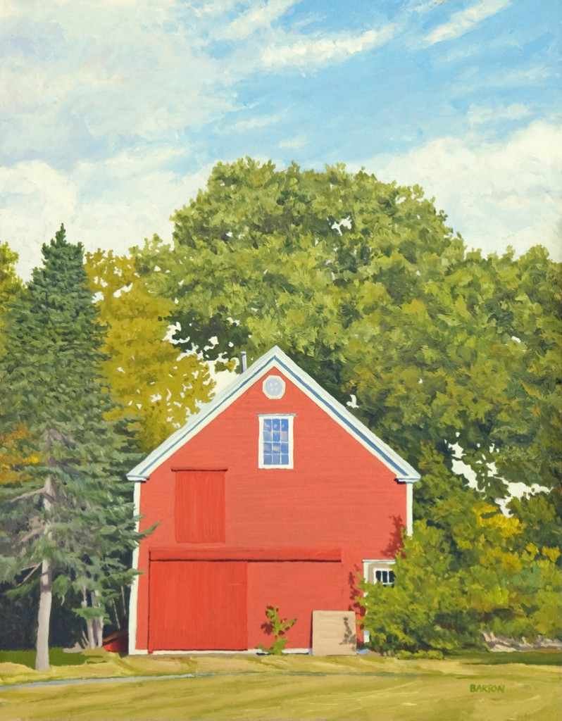 This painting by Bill Barton of Cape Elizabeth is among the works selected for the juried biennal.