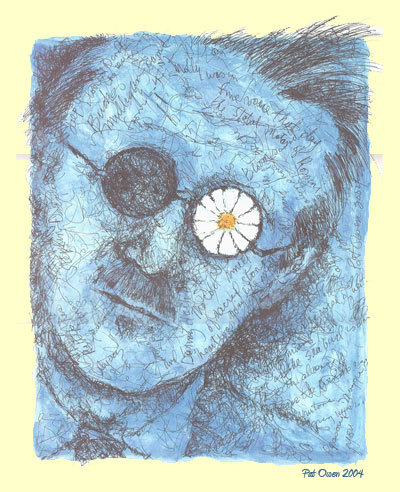 Pat Owen's depiction of James Joyce is the poster for the Bloomsday celebration.