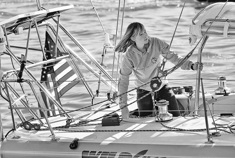 Abby Sunderland, 16, seen in a photo from Jan. 23, is aboard her sailboat Wild Eyes in Marina Del Rey, Calif., as she departs on a world-record attempt to sail solo around the world. She is now, however, in apparent distress in the southern Indian Ocean.
