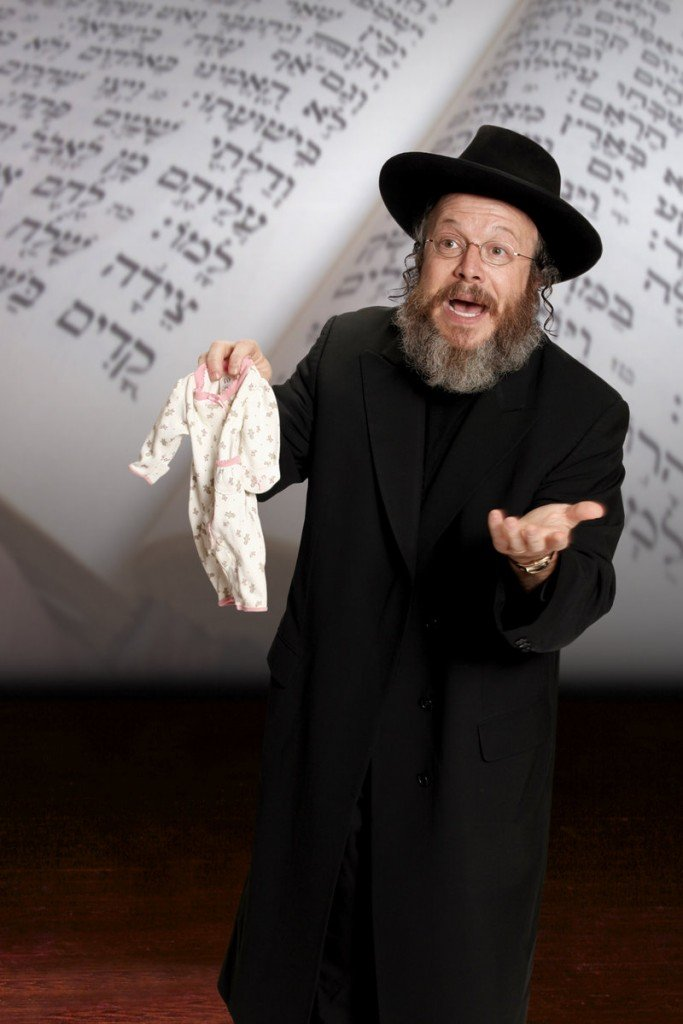 """Yisrael Campbell appears in his one-man show, """"Circumcise Me."""" Campbell successively converted to each of three branches of Judaism – Reform, Conservative and Orthodox."""