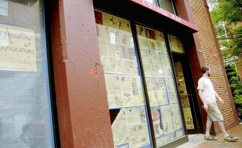 The side entrance to Havana South will eventually open into a butcher shop, according to owner Michael Boland's plan.