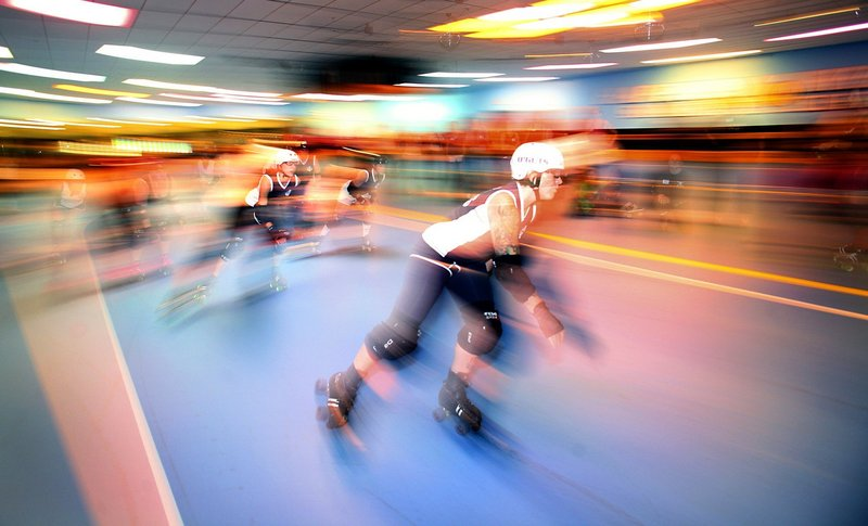 Maine Roller Derby, shown during a recruitment day last year, is offering something a little bit different for Father's Day – an exhibition event at Happy Wheels on Warren Avenue.