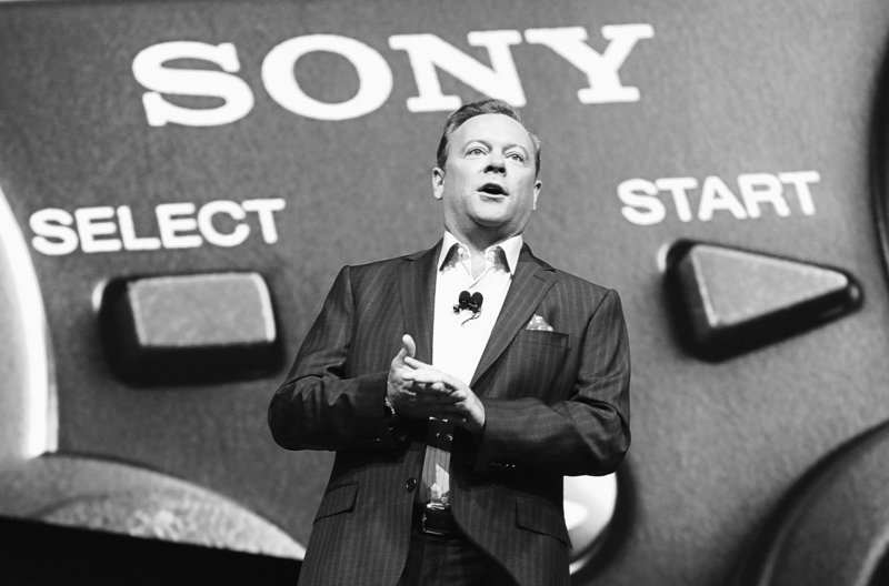 Jack Tretton, president and CEO of Sony Computer Enter-tainment of America, speaks during the introduction of the company's new PlayStation products Tuesday in Los Angeles.