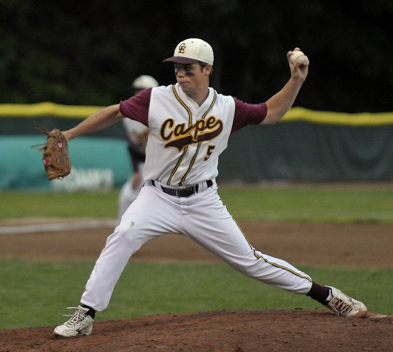 Conor Moloney pitched Cape Elizabeth past Yarmouth in a regional final Wednesday, but his focus this summer will be on golf, not baseball.