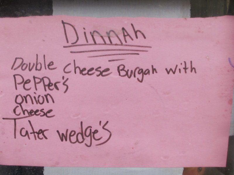 """The dinner menu at Combat Outpost Dand Wa Patan, posted by Spc. Jeffrey Pelletier of Waterville, has a distinctly Maine flavor. """"There is no day off,"""" the chef says. """"I'm the only one here."""""""