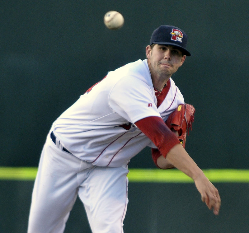 Casey Kelly, a top Red Sox pitching prospect, had a rough outing Friday night for the Portland Sea Dogs. He went 3 2⁄3 innings and gave up nine hits and five runs, but he was not involved in the decision as Portland beat Akron.