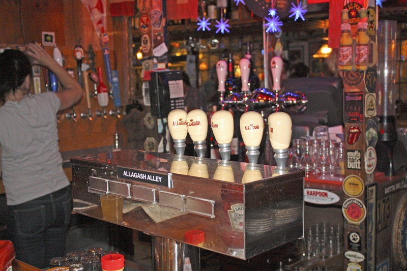 """""""Allagash Alley"""" at the Great Lost Bear's bar area is dedicated to a selection of Allagash brews, made in Portland."""
