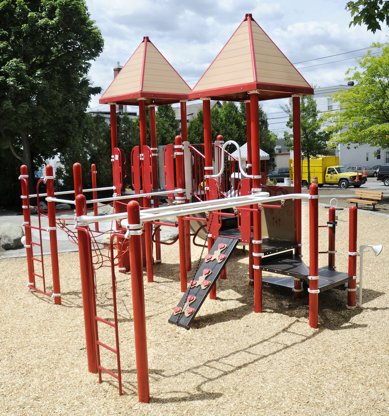 New playground equipment is a wonderful addition to East Bayside – not Munjoy Hill, a reader notes.