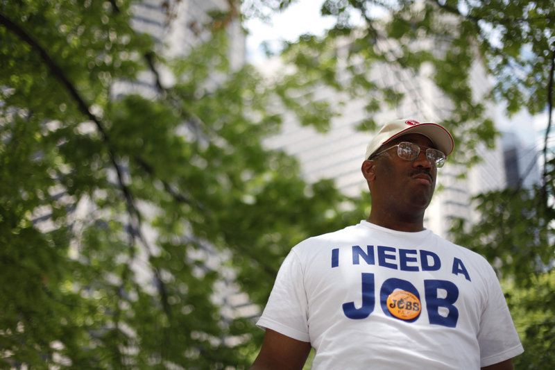 Frank Wallace, who hasn't had a job since May of 2009, attends a recent rally organized by the Philadelphia Unemployment Project in Philadelphia.