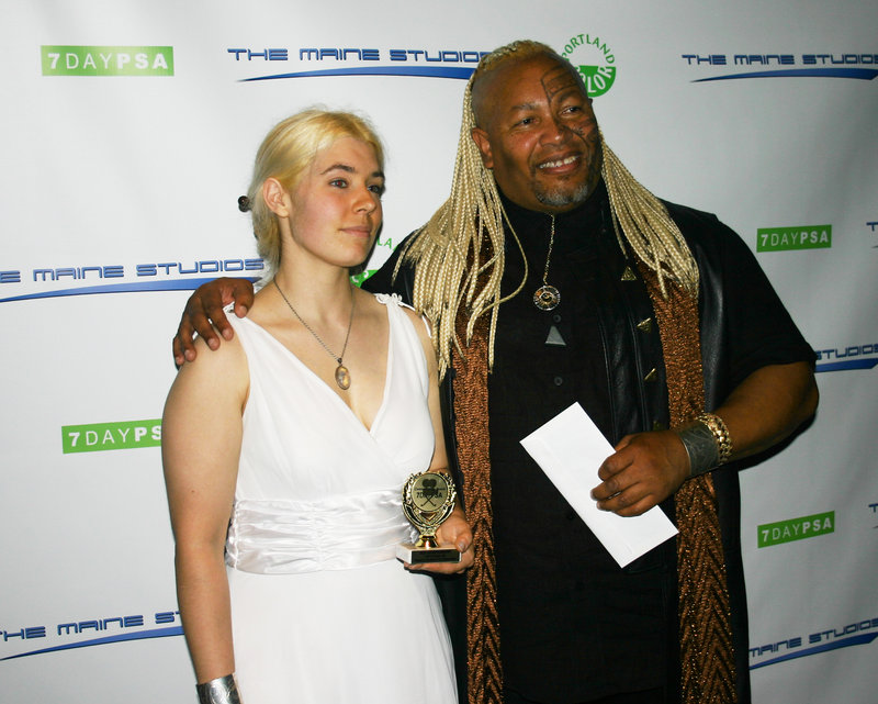 Sire-ra Phoenix and Ahura Z. Diliiza of Unicovia Pictures, which won for cinematography