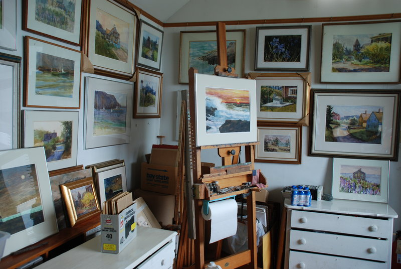 The works of Fred Wiley still hang in his studio on Monhegan Island. His widow, Faryl Wiley, hopes to distribute some of his work among members of his family, while placing other examples of his artwork in local museums.