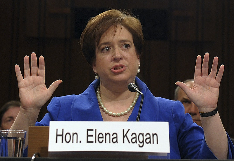 Supreme Court nominee Elena Kagan makes her opening statement Monday on Capitol Hill during her confirmation hearing.