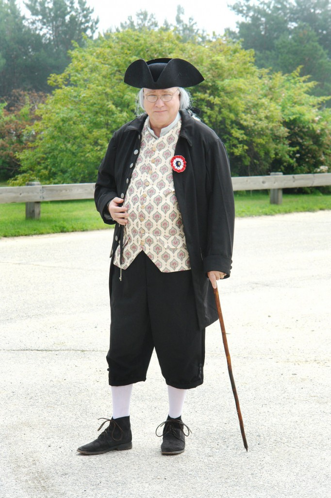 John Kierstead of the South Portland Historical Society will read the Declaration as Benjamin Franklin again this Fourth.