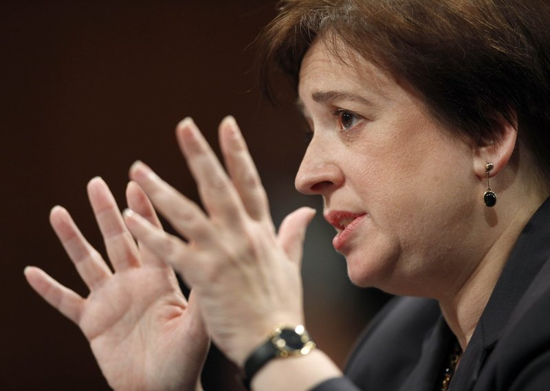 "Supreme Court nominee Elena Kagan testifies Tuesday before the Senate Judiciary Committee. She rebutted GOP efforts to tie her to the left. ""(My) politics would be, must be, have to be completely separate from my judging,"" she said."
