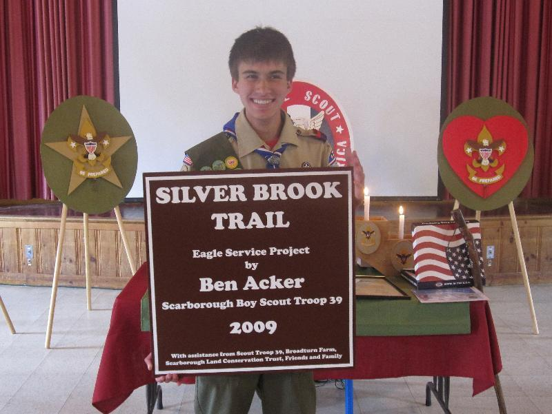 Benjamin Acker is honored as a new Eagle Scout.