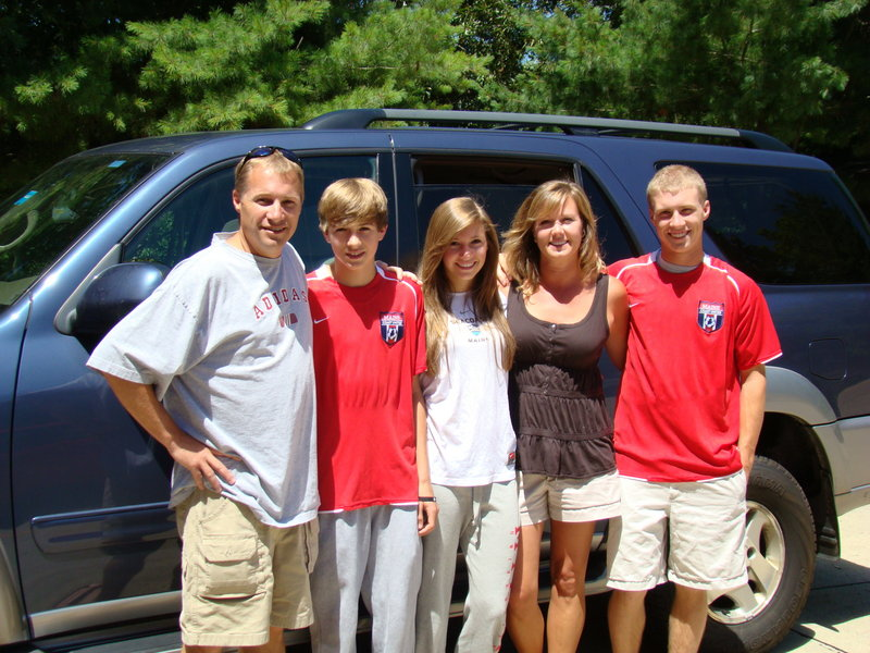 The Ingrahams, from left, father Phil, younger son Ben, daughter Sarah, mother Michelle and older son Matti, are in West Virginia where all three kids are playing in a US Youth Soccer Region I tournament.