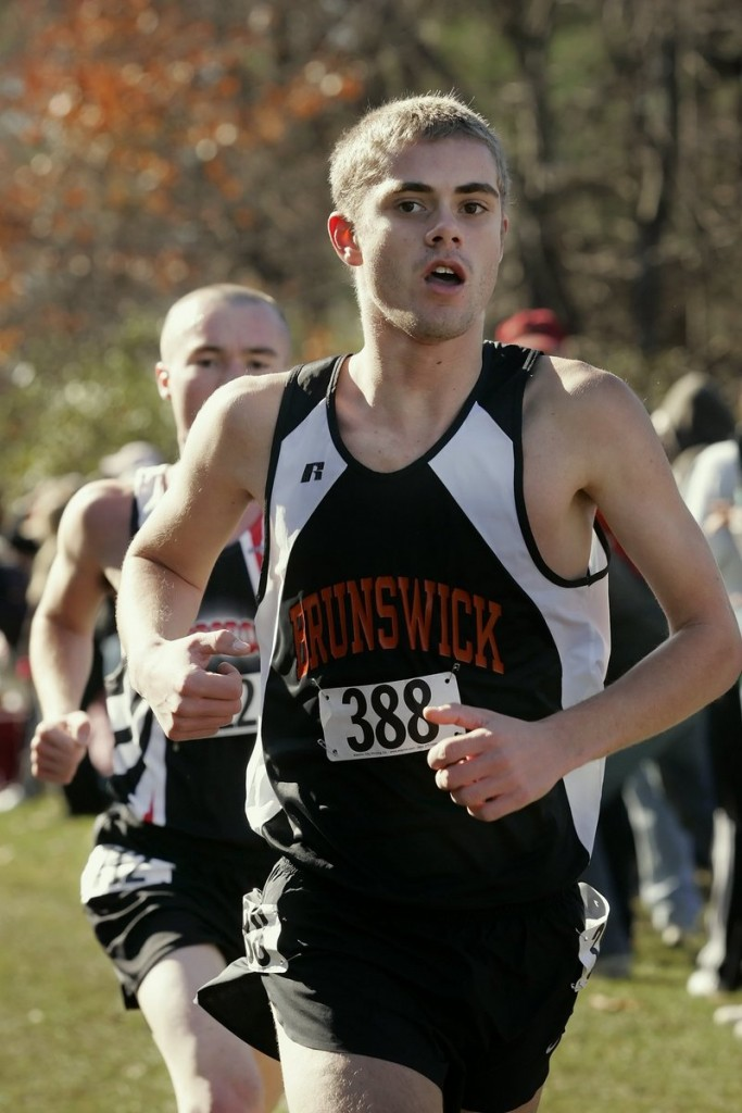 Will Geoghegan of Brunswick capped his high school career with three individual Class A state championships, and he played a key role in the Dragons' run for a Class A team title.