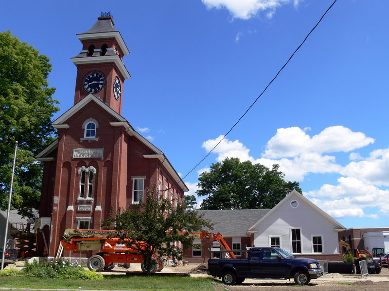 The historic Pennell Institute building was a school from 1876 until 1962. A $2.4 million renovation has turned it into municipal offices for Gray. A rededication will be held July 24.
