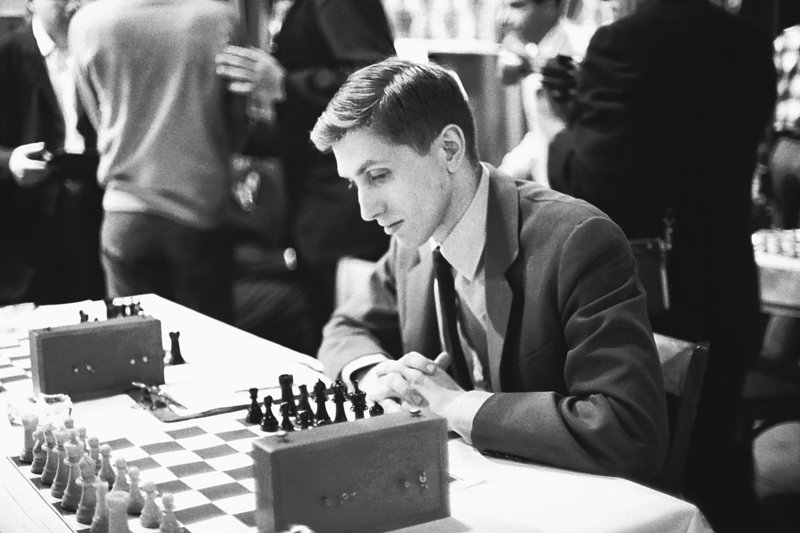 Bobby Fischer attends the start of the U.S. Chess Championship tournament in New York in 1965.
