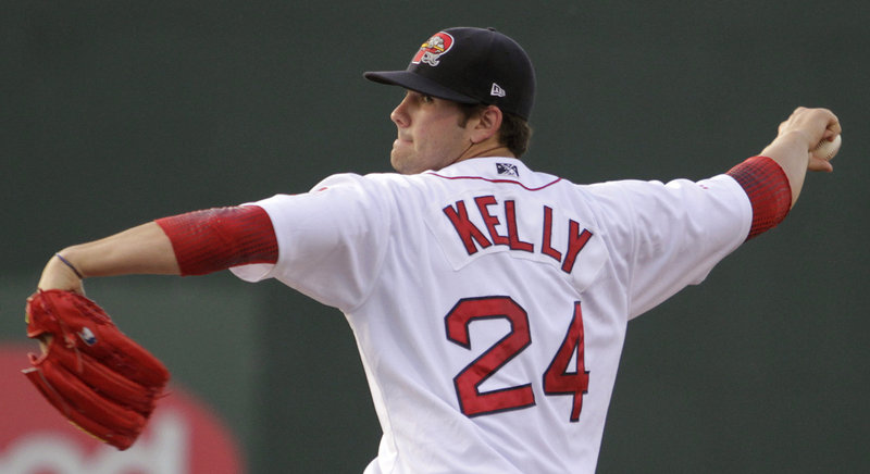 Portland starter Casey Kelly struck out three batters in the first inning Tuesday, but he also gave up three doubles and posted New Hampshire an early 2-0 lead.