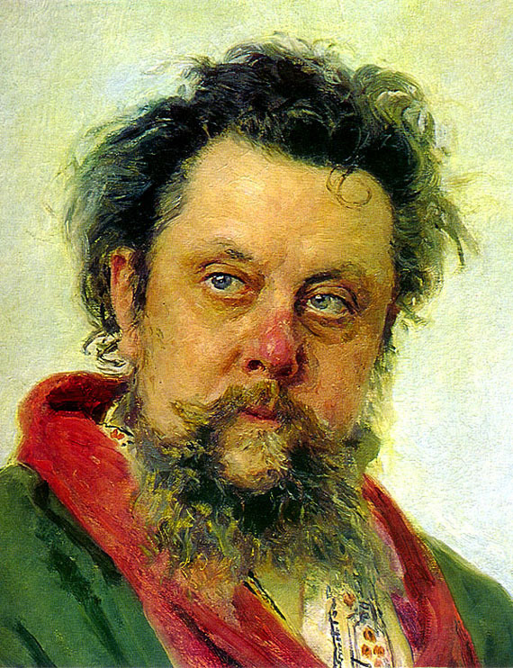 The 19th-century Russian composer Mussorgsky battled – some say embraced – alcoholism for much of his adult life. He died in 1881 at the age of 42. This portrait of Mussorgsky was painted by Ilya Repin just a few days before the composer's death.